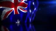 Reflective Floor Background Loop - The Australian Flag (Full HD)