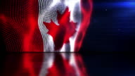 Reflective Floor Background Loop - The Canadian Flag (Full HD)