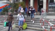 Refugees travelled by train to the main railway station 'Munich Hauptbahnhof' to reach refugee centre on September 06 2015 in Munich Germany Hundreds...
