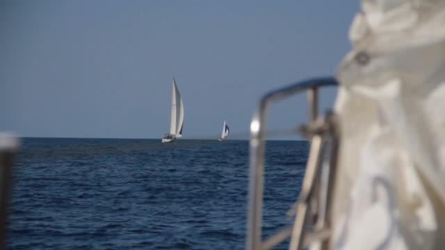 Regatta at sea