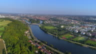 Regensburg and the Danube River from the Northwest