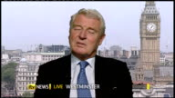 Regional and local elections / AV referendum results ENGLAND London Westminster INT Lord Ashdown interview SOT Very tough night for the Liberal...