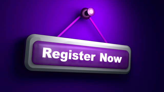 Register Now Symbol Animation