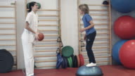 Rehabilitation exercises with balls