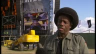 Rehearsals and interviews for Nelson Mandela's 90th birthday concert Eddy Grant interview SOT On having to start record labels to achieve his musical...