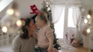 Reindeer kissing an Elf 4K
