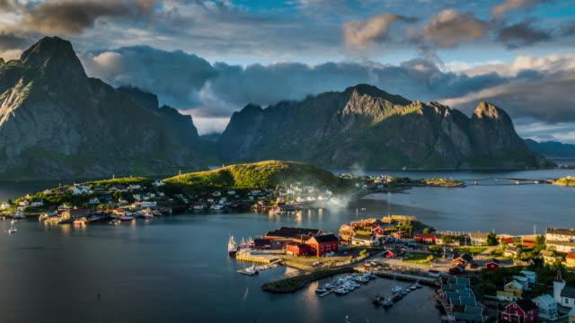 AERIAL Reine Village, Lofoten Islands, Norway