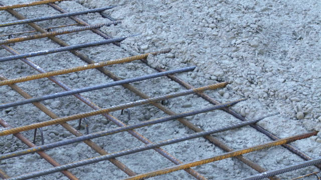 Reinforced Concrete Floor on Construction Site PAN