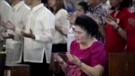 Relatives and supporters of late Philippine dictator Ferdinand Marcos take part in weekend of celebrations ahead of his 100th birth anniversary on...