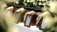 Relatives of 36 victims received the remains of their loved ones killed between 1993 and 2003 during the Colombian Civil War CLEAN Ceremony for...