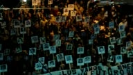 Relatives of people killed and ÔdisappearedÕ during UruguayÕs last military dictatorship marched in silence in Montevideo on Sunday holding banners...