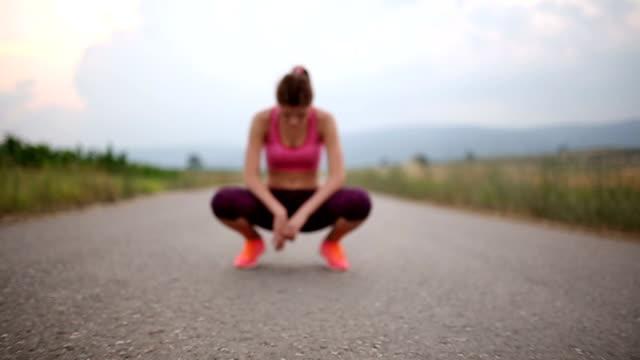 Relaxing after running