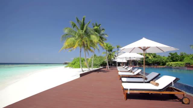 relaxing beach pool scenery
