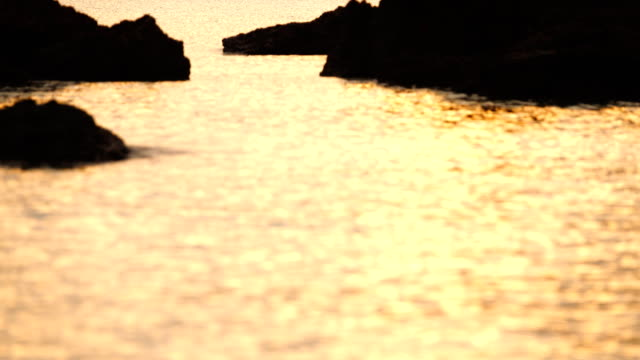 Relaxing beautiful tropical sea in evening at sunset