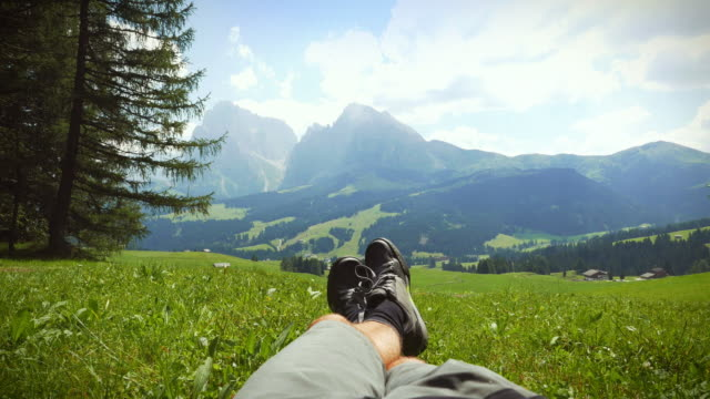 Relaxing on the Dolomites