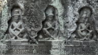 ZO / Relief carving of deities at Preah Khan temple