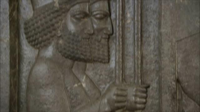 ECU TU TD Relief of Darius the Great (King of Persia) in National Museum of Iran, Tehran, Iran
