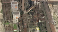 AERIAL Remains of Dortmund Steelworks, Dortmund, North Rhine-Westphalia, Germany