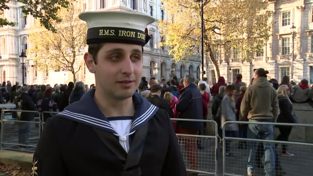 Remembrance Sunday marked Able Seaman Alexander Saridis interview SOT