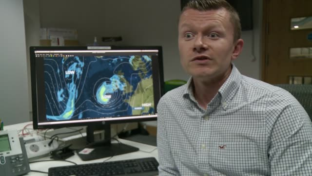 Remnants of Hurricane Ophelia heads towards the UK and Ireland ENGLAND INT Greg Dewhurst interview SOT