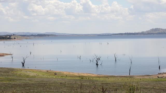 Remote area Lake Hume near Wodonga in Victoria Australia