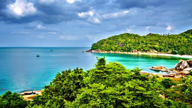 Remote beach and wide sea
