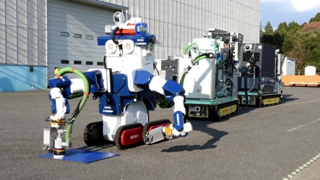 A remote controlled robot unit for removing nuclear contamination is unveiled in Japan aiming to clean Fukushima nuclear plant that suffered a...