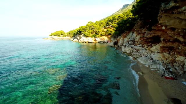 Luftbild entfernten idyllischen Strand