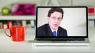 Remote lawyer consultation on laptop
