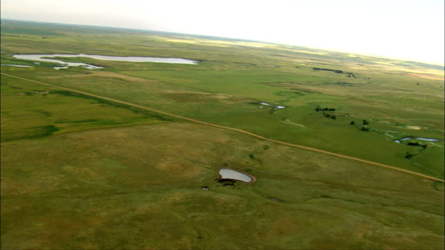 Remote Ranch And Dust Roads  - Aerial View - South Dakota,  Perkins County,  United States