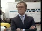 Renault racing ITN CMS BERNIE ECCLESTONE intvw EXT SOF 'I don't think big exposure'