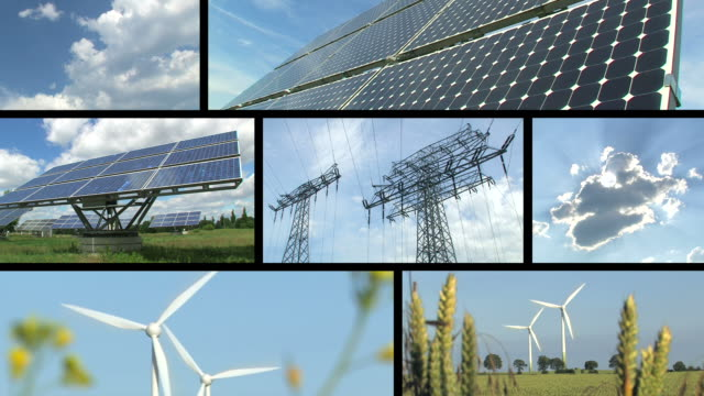 Renewable energy and power montage