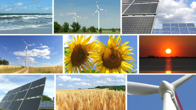 Renewable energy montage