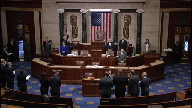 Rep Dan Newhouse acting as the Speaker Pro Tempore opens a session of the House of Representatives