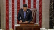 Rep Kevin Yoder then presiding over the House reads off a ruling citing precedents of the House that attempt to disband Benghazi inquiry by Select...