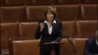 Rep Susan Davis of California a member of the House Armed Services Committee argues against a defense authorization on account of short term funding...