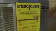 SLO MO CS MS Repair man installing air conditioning unit / Austin, Texas, USA