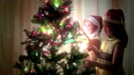 #RePicture Little Girl decorate Christmas tree