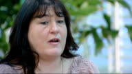 Report criticises care given to older patients in London hospitals London Angela Lacovara and reporter looking at document Angela Lacovara interview...