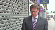 Report from Essex on UKIP gains Shows UKIP supporters in streets Nigel Farage Leader of UKIP party Thurrock streetscenes Interviews with Malcolm...