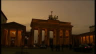 Report on Angela Merkel ahead of EU budget summit GERMANY Berlin General view of Brandenburg Gate Back view of man away General view of street scene...
