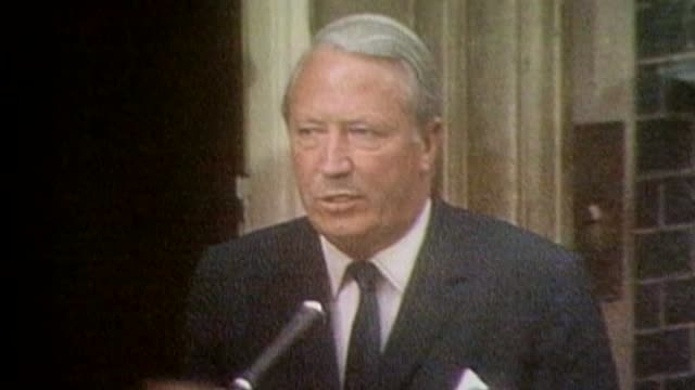Report reveals Sir Edward Heath 'would have been interviewed under caution' over child sex abuse allegations LIB London Downing Street EXT Edward...