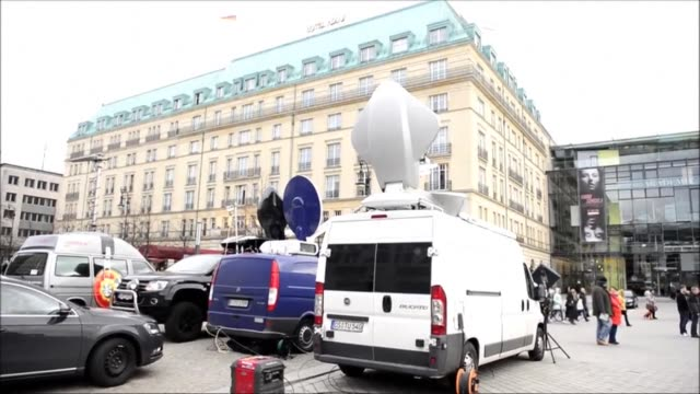 Reporters and TV satelite trucks are camped out in front of the Hotel Adlon where former Russian oil tycoon and Kremlin critic Mikhail Khodorkovsky...