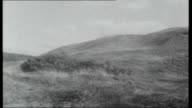 Aberfan Are Other Tips Dangerous Cilfynydd Albion Colliery Children play in school playground large slag heap behind school Huge coal tip seen at end...