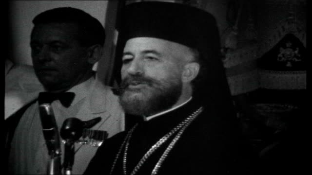 Cyprus guarded by UN peace force CYPRUS Nicosia Archbishop Makarios III celebrates Commonwealth Day by Proposing a Toast to Her Majesty Queen...