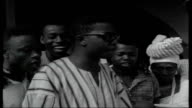 Ghana after Coup Moxham interview SOT Students on streets celebrating overthrow of Nkrumah students holding up signs and waving tree branches Vox...