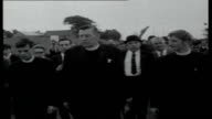Ian Paisley and Northern Ireland troubles NORTHERN Tracking shot of countryside with speech by Reverend Ian Paisley overlaid SOT Paisley leading...