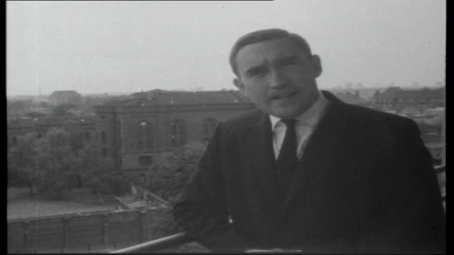 Nazi prisoners in Spandau WEST GERMANY Berlin Spandau EXT John Edwards introduces report overlooking Spandau Prison SOT Exterior shot of Spandau...