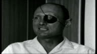 Middle East Crisis Israel ISRAEL Various of General Moshe Dayan with Menachim Begin General Moshe Dayan interview SOT No this is not the fact / I...