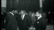 Ethiopia OAU conference at Addis Ababa EXT General views of Ethiopian palace guards in training marching Imperial Fountains INT Haile Selassie I...